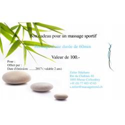 Bon cadeau pour un massage sportif