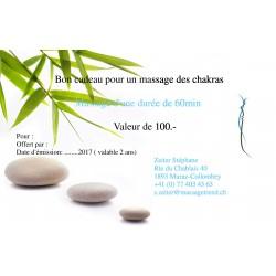 Bon massage des chakras